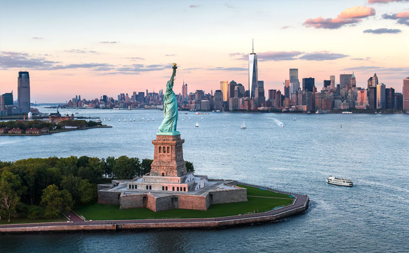95. Where is the Statue of Liberty?
