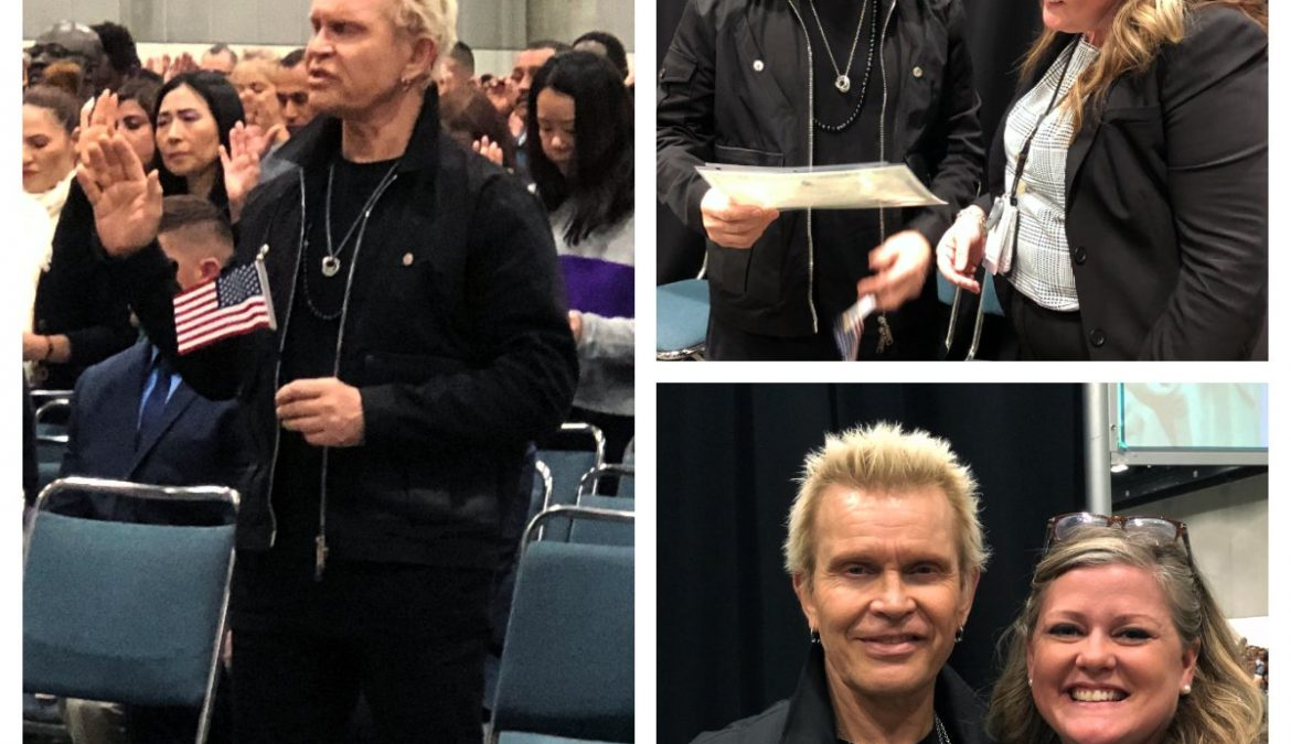 Billy Idol is officially a United States citizen.